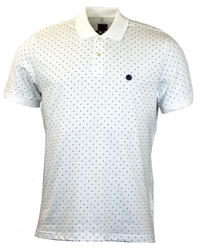 Pique Polo PRETTY GREEN Retro Mod In White