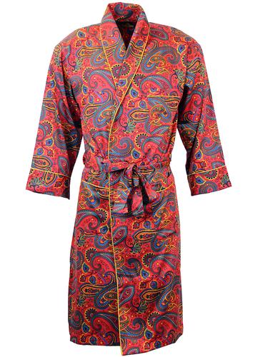 PYRAMID 1960s Psychedelic Paisley Dressing Gown