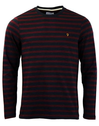 Radway Farah Retro 60s Mod T-Shirt In Bordeaux