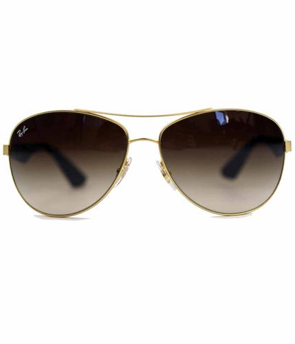 RAY-BAN BROWN GRADIENT AVIATOR SUNGLASSES