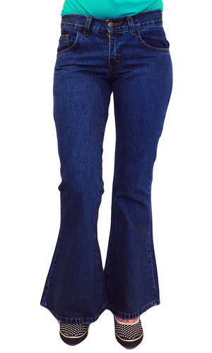 'Blast' -  Retro Sixties/Seventies Denim Flares