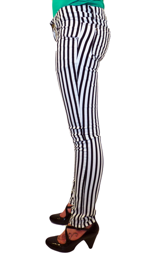 'Rolling Stoned' - Indie Retro Mod Skinny Jeans