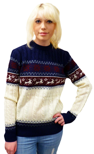 'Reindeer on my Parade' Retro 70s Christmas Jumper