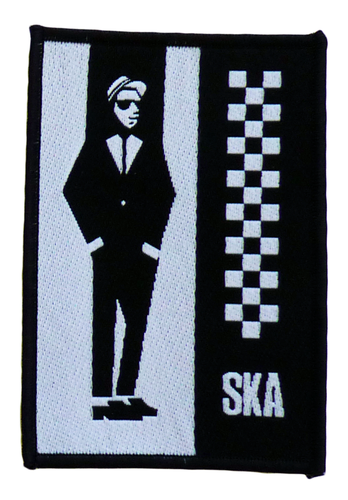 MOD SKA MAN RUDEBOY SEW ON PATCH RETRO MOD 70s