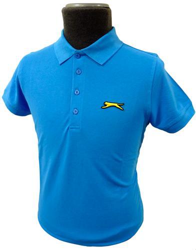 6b4bed5068 Slazenger Heritage 'Cleek' Polo in Aqua | Retro Mod Mens Polo Shirts