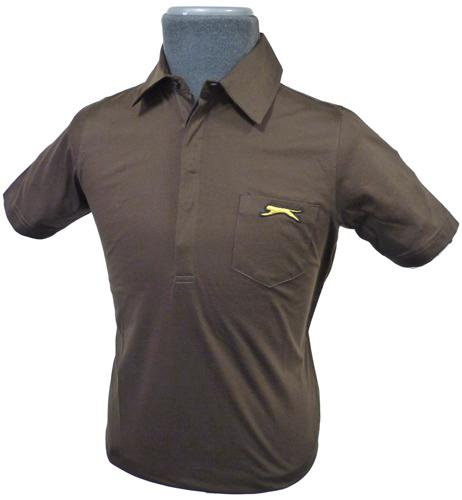 slazenger heritage maysie polo in brown retro mod mens