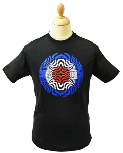 Psychedelic Target STOMP Mens Retro Mod T-Shirt