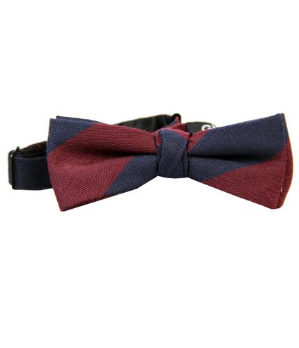 GIBSON LONDON RETRO MOD STRIPE BOW TIE