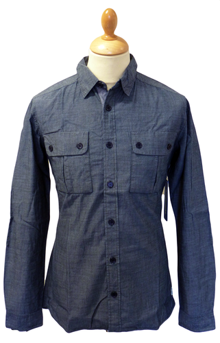 Compass SUPREME BEING Retro Mod Flannel Shirt (DB)