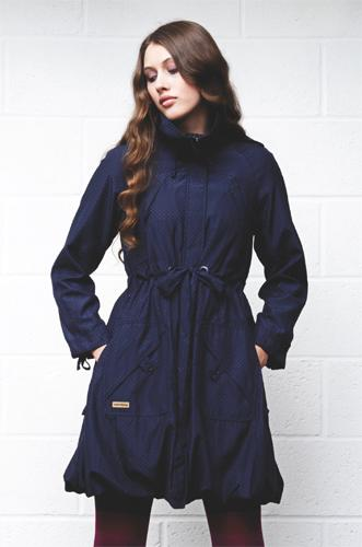 SUPREME BEING 'Dixi' Retro Womens Parka (Navy)