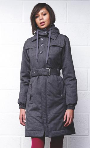 SUPREME BEING 'Valley' Womens Retro Trench Coat