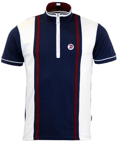 TROJAN RECORDS 60s Stripe Panel Pique Cycling Top