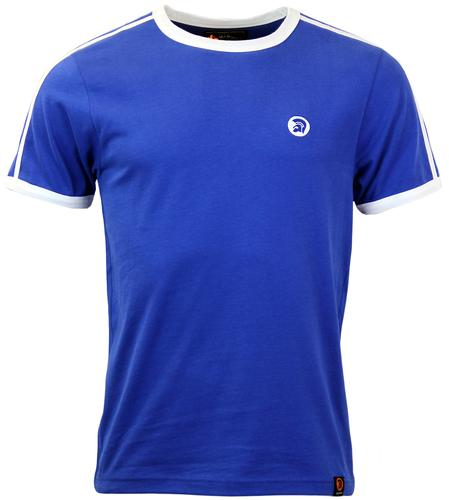 TROJAN RECORDS Retro Indie Twin Stripe T-Shirt C
