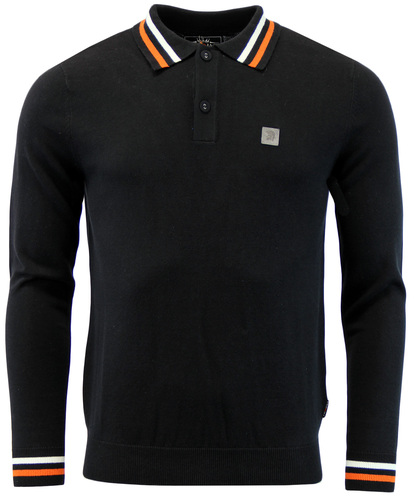 TROJAN RECORDS Retro Mod 60s Tipped Knitted Polo