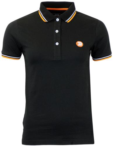 TROJAN RECORDS Retro Mod Tipped Womens Polo