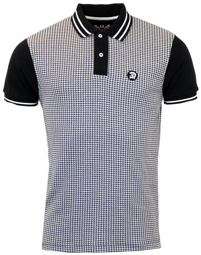 TROJAN RECORDS Retro Mod Houndstooth Polo Top (B)