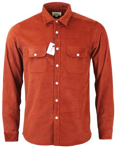 TUKTUK Retro Indie Mod Cord Worker Over Shirt (M)