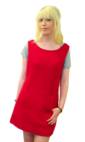 Retro Sixties Mod Pinafore Dress by TULLE (S)