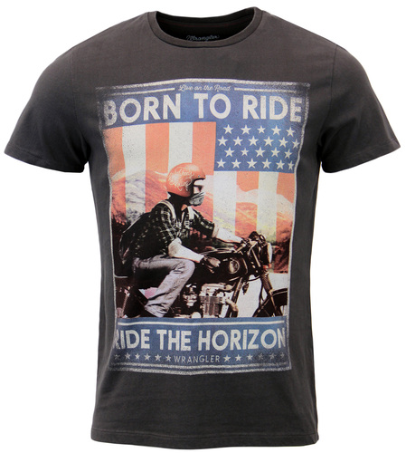 WRANGLER Retro Indie Born To Ride Jersey T-Shirt