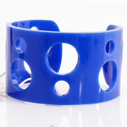 Ada Binks for Madcap England Women's 60s Mod Circle Cuff Bracelet in Blue