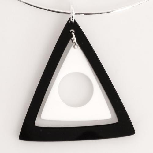 Ada Binks for Madcap England 60s Mod Concentric Triangles Choker Necklace in Black