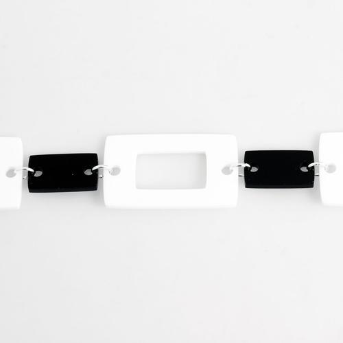 Ada Binks for Madcap England Women's 60s Retro Rectangle Chain Belt in White