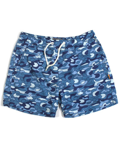 AFIELD Men's Retro 70s Pool Camo Swim Shorts
