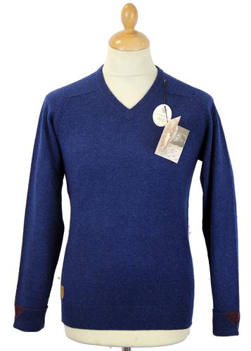 Brooke ALAN PAINE Retro Mod Cuff Detail Jumper