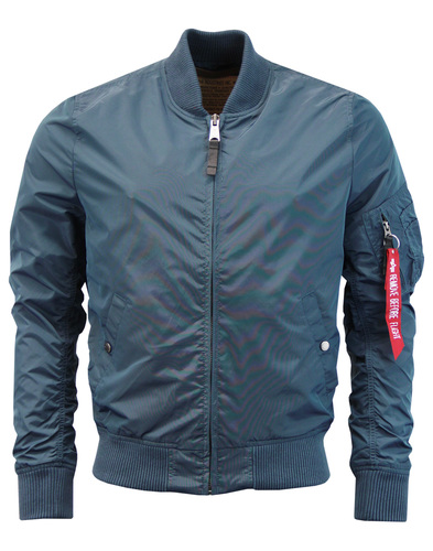 MA-1 TT ALPHA INDUSTRIES Bold Blue Bomber Jacket
