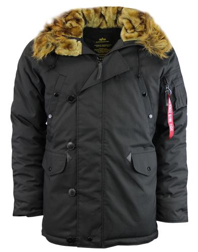 Explorer ALPHA INDUSTRIES Mod Snorkel Parka BLACK