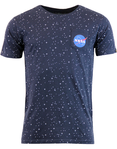 ALPHA INDUSTRIES Starry Retro NASA Pocket T-Shirt