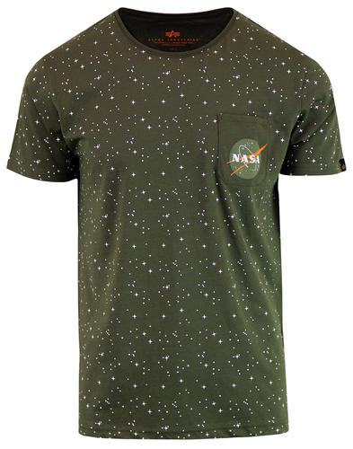 ALPHA INDUSTRIES Starry Retro NASA Pocket Tee (DG)