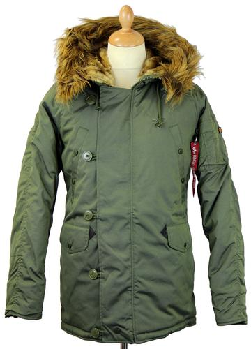 Explorer ALPHA INDUSTRIES Mens 60s Mod Parka (DG)