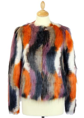 ANDY WARHOL MARILYN MONROE FAUX FUR COAT