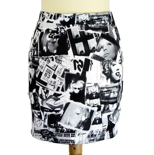 ANDY WARHOL RETRO 50S 60S POP ART PENCIL SKIRT
