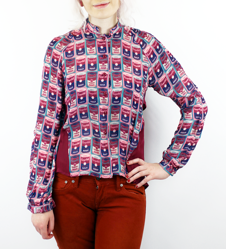 Tara ANDY WARHOL Retro Mod 60s Pop Art Shirt