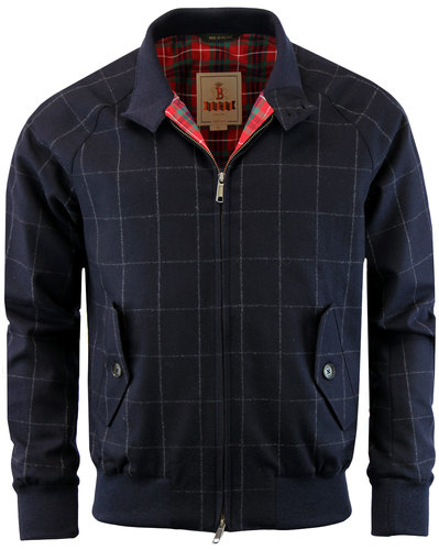BARACUTA G9 Fox Brothers Flannel Check Harrington