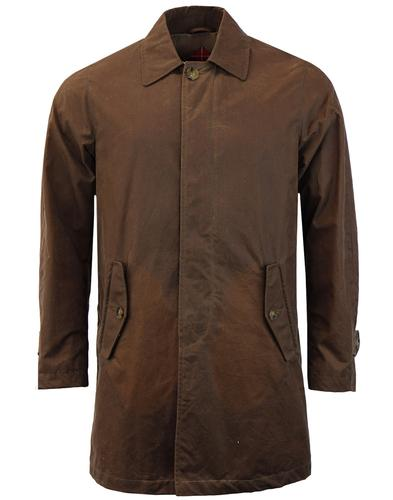 BARACUTA G10 Winter 60s Mod Waxed Cotton Mac Coat