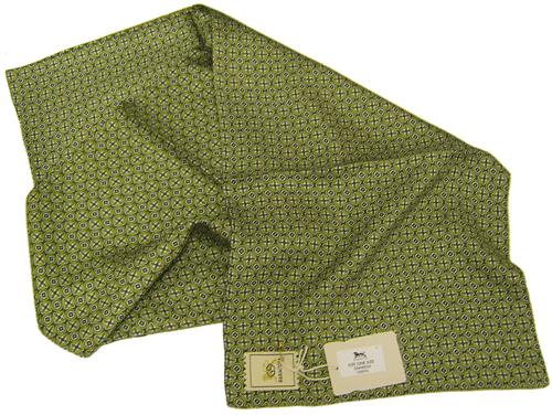 'Baracuta Retro Sixties Silk Scarf' (Green)