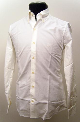 'Baracuta G9 Oxford Shirt' (White/Blue Tartan)