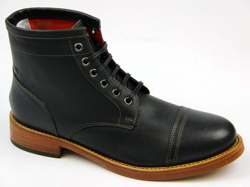 Bristol BASE LONDON Retro Mod Waxy Leather Boots B