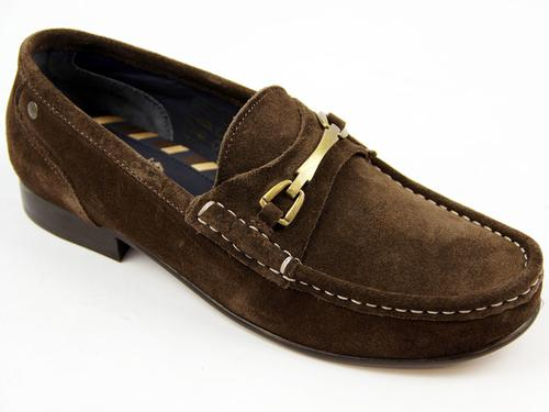 Journal BASE LONDON Retro Mod Suede Saddle Loafers