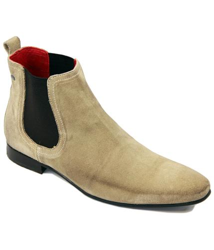 Thread BASE LONDON Mod Greasy Suede Chelsea Boots