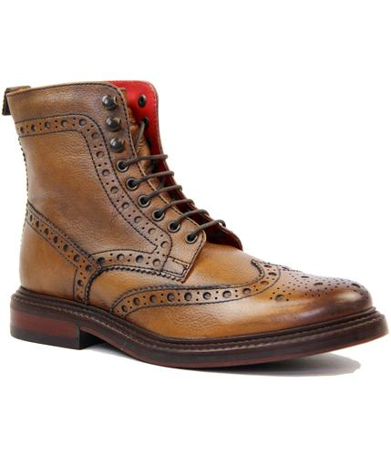 Berners BASE LONDON Wingtip Brogue Worker Boots