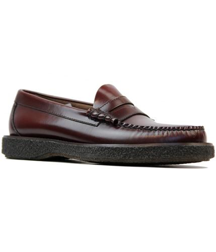 BASS WEEJUNS LARSON MOD CREPE SOLE LOAFERS OXBLOOD