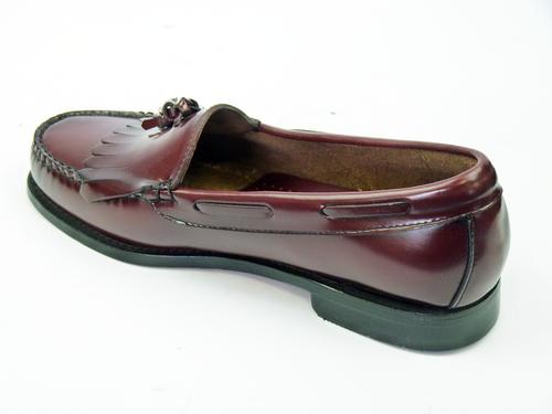 BASS WEEJUNS Layton Retro Mod Tassel Loafer Shoes Burgundy 7fc69fcc0