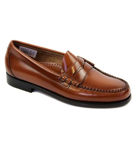 BASS WEEJUNS LARSON MOD PENNY LOAFERS BROWN