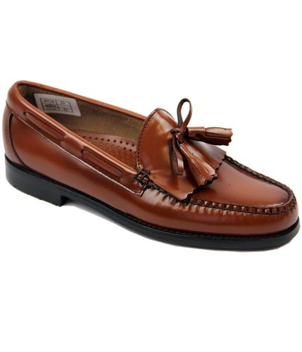 Layton BASS WEEJUNS Mod Tassel Fringe Loafer Shoes