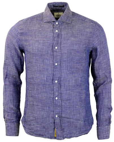 Dexter B D BAGGIES L/S Slim Fit Slub Linen Shirt