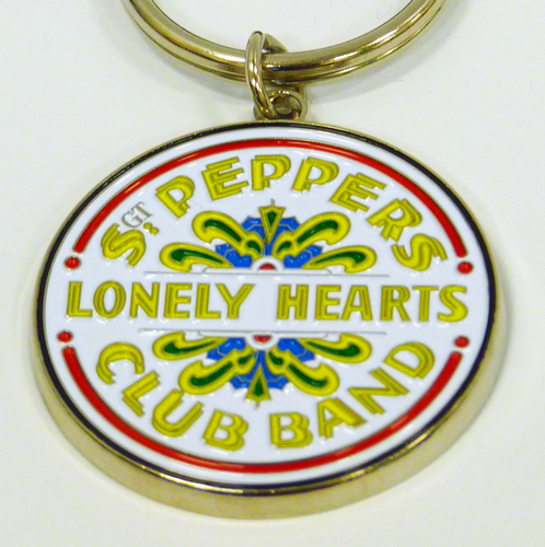 Sgt Peppers The Beatles Retro 60s Drum Key Ring